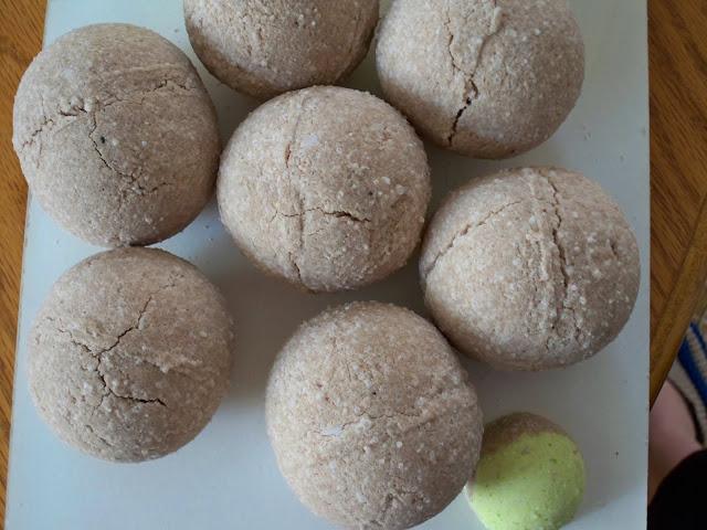 Première recette boules de bain
