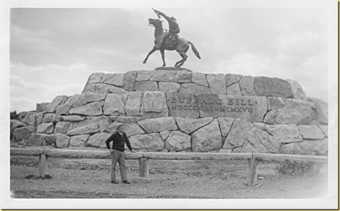 1939 - 6-21 - Trip West - Earl at Cody, Wyoming