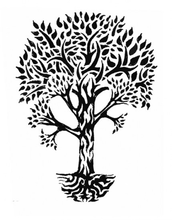 The gallery for tree roots tattoo sleeve for Tribal tattoos that represent family
