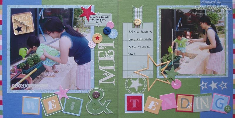 Wei & Mei Tending: Double Layout using Stampin' Up! Supplies