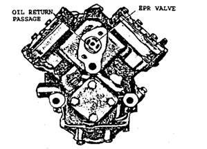 Evaporator suction pressure regulator valve and oil return passage.