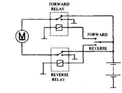 Motor reverse circuit.