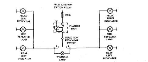 Directional indicator circuit.