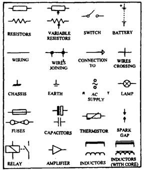 Schematic Symbols Clip Art on basic intercom wiring diagram