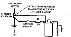 Cold start ballast resistor.
