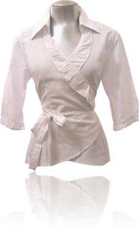 blusa transpassada