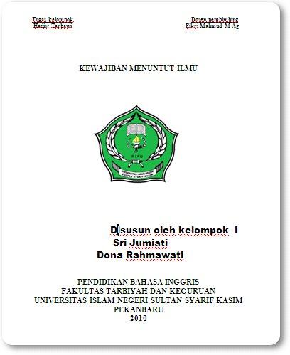 Download Makalah Kewajiban Menuntut Ilmu by Dona Rahmawati dan Sri Jumiati