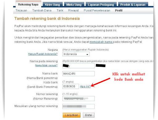 Cara daftar PayPal dan Verifikasi
