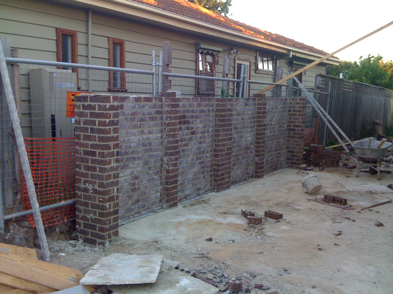 Tim tina 39 s new home building blog redevelopment in for Building a brick garage