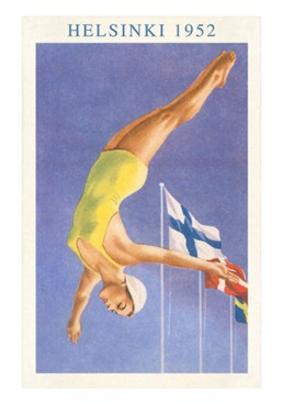 Diving-Helsinki-Finland-1952-Posters