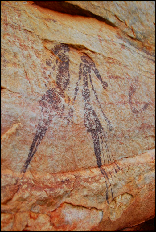 Gwion-Bradshaw art on Anjo Peninsula, the Kimberley