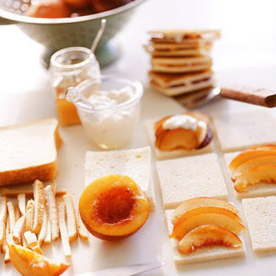 Grilled Fruit Panini with Yogurt Cheese