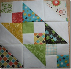 Charm Square Quiltalong first finished block