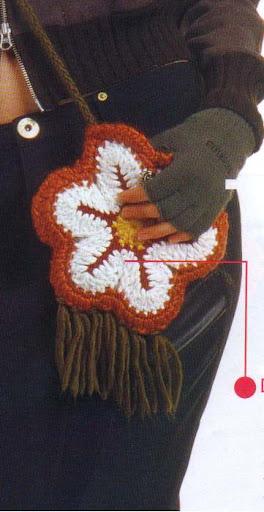 вот такая сумочка-цветочек, а к ней и беретик впридачу (Benissimo 11/05)
