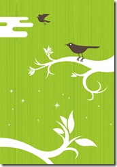 green background birds