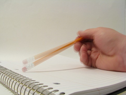 pencil tapping on-paper