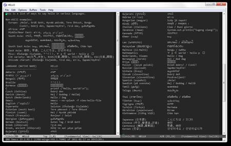 Emacs 23.2.92 HELLO