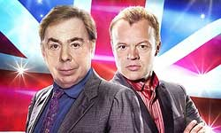 Lloyd Webber and Norton looking intense