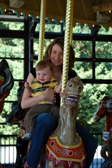 Mommy and Parker on Carousel