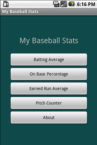 My Baseball Stats Calculator
