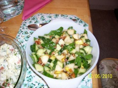 Our Pear and Cucumber Salad