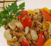 Spicy Sausage with pepper