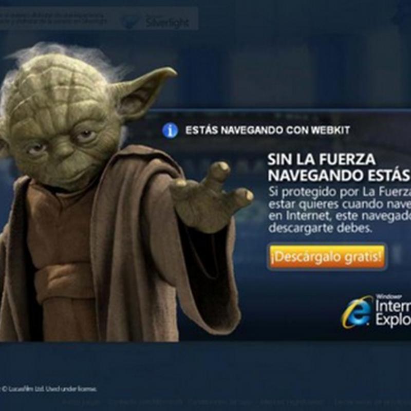 Imagen de la semana: Yoda le hecha la mano a Internet Explorer