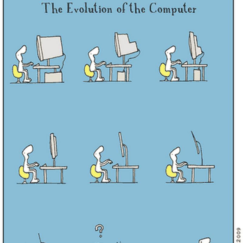 Imagen: La evolución de la computadora