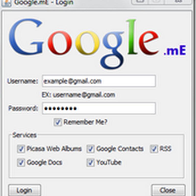 Google.mE, el control de tus servicios en tu escritorio