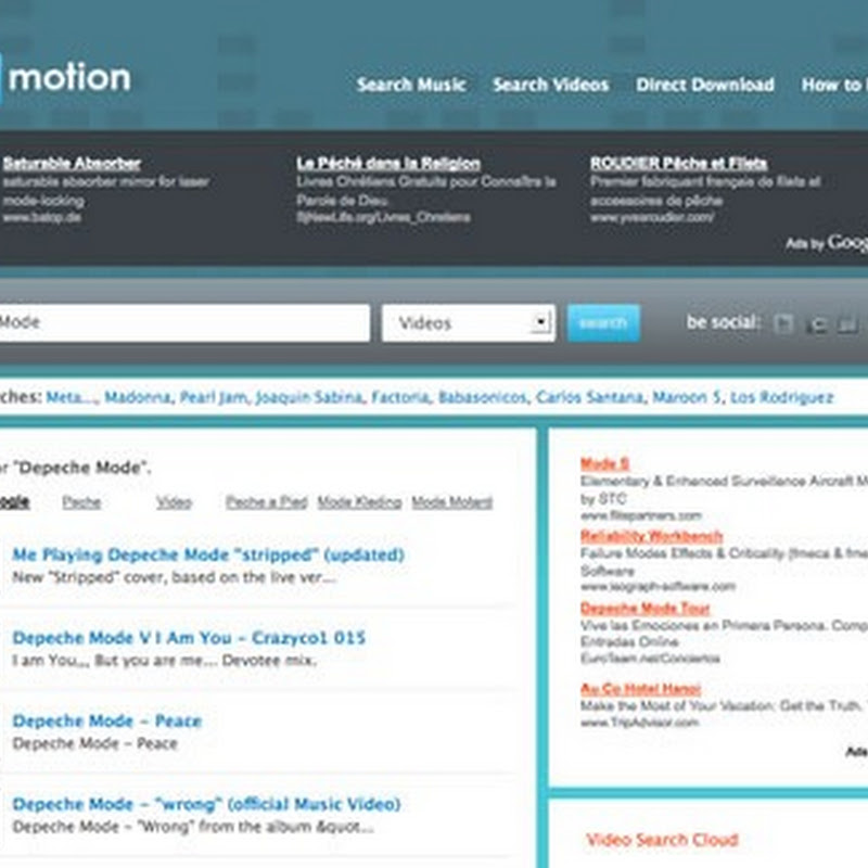 MP3Motion: un sitio para descargar vídeos