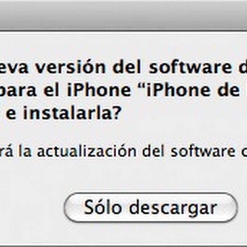 Nueva actualización del software del iPhone y iPod Touch