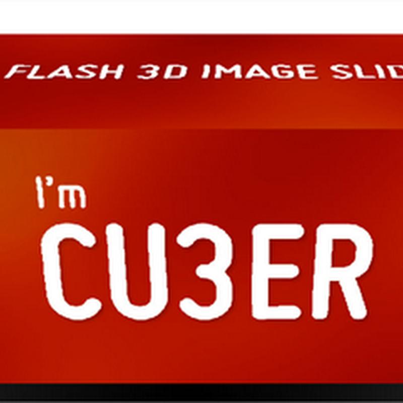 Cu3er, slider 3D de imágenes en flash