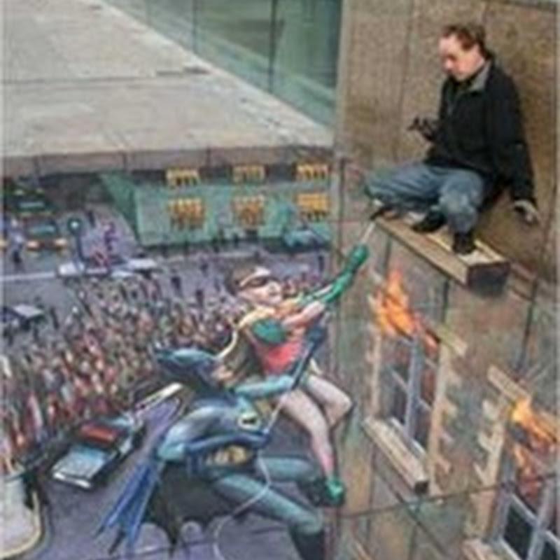 Ilustraciones en 3D en las calles