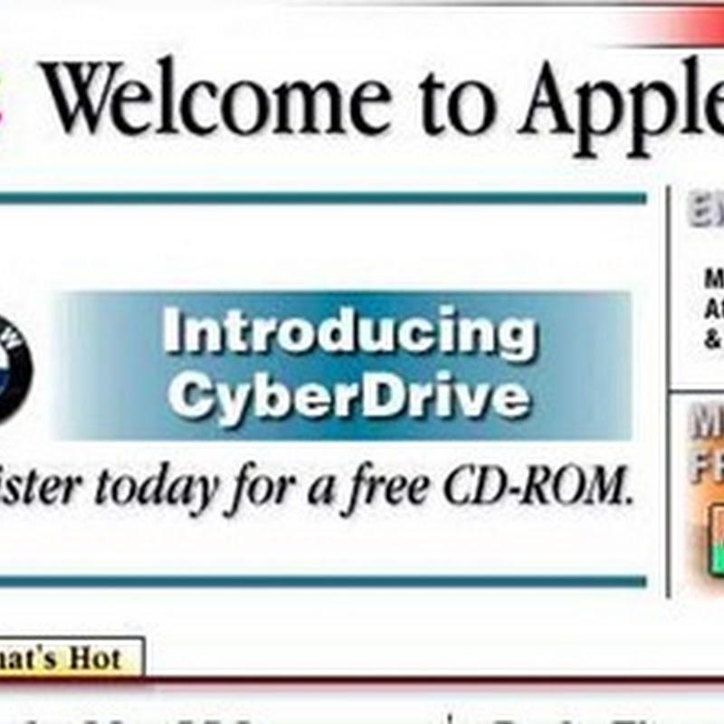 La evolución del sitio web de Apple