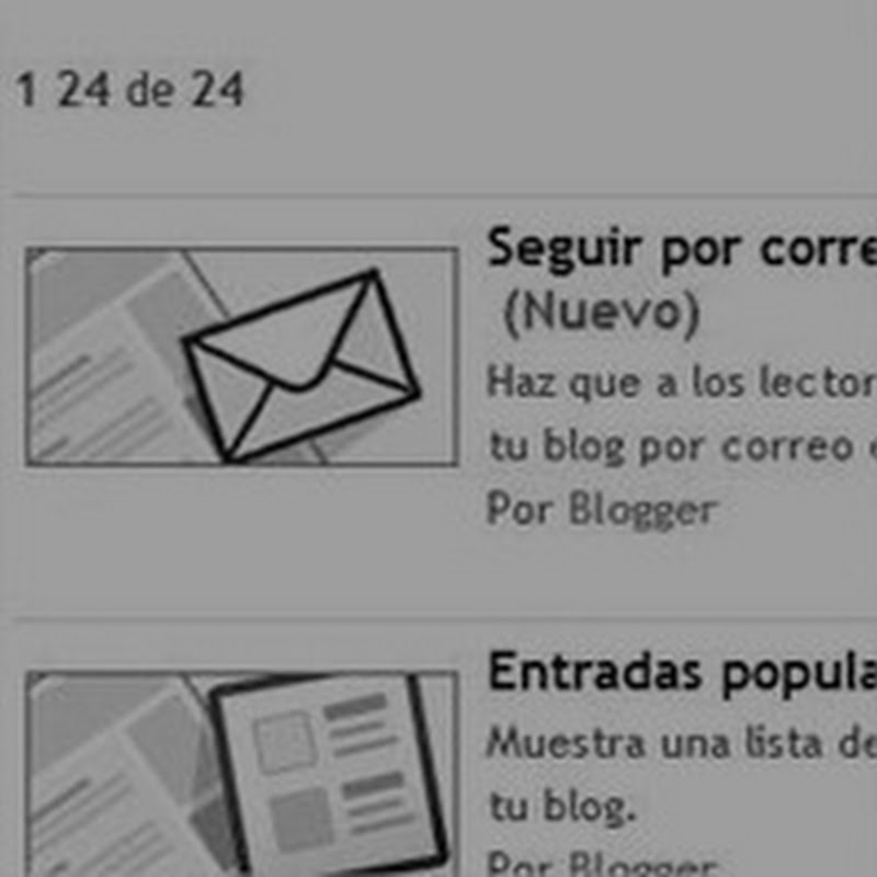 Suscripción por correo en Blogger
