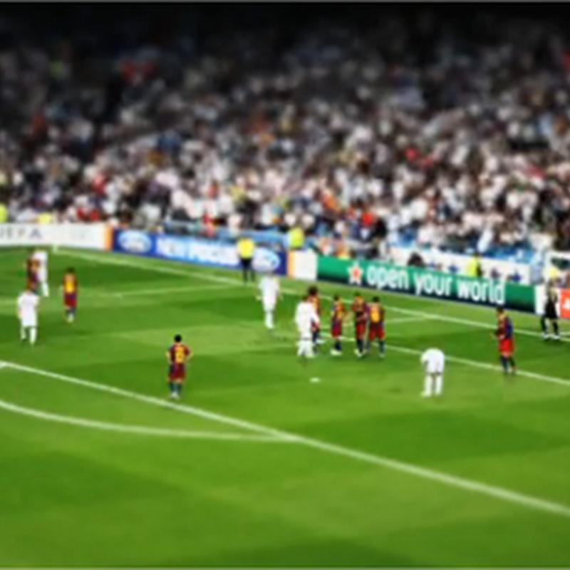 Impresionante timelapse del partido del Barcelona y Real Madrid