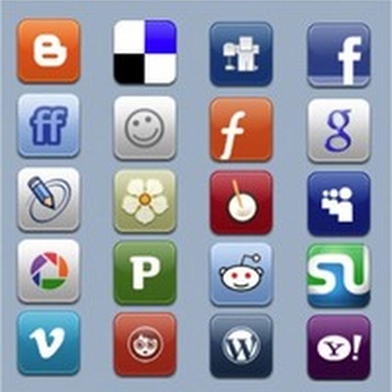 17 ejemplos de íconos sociales integrados en sitios web