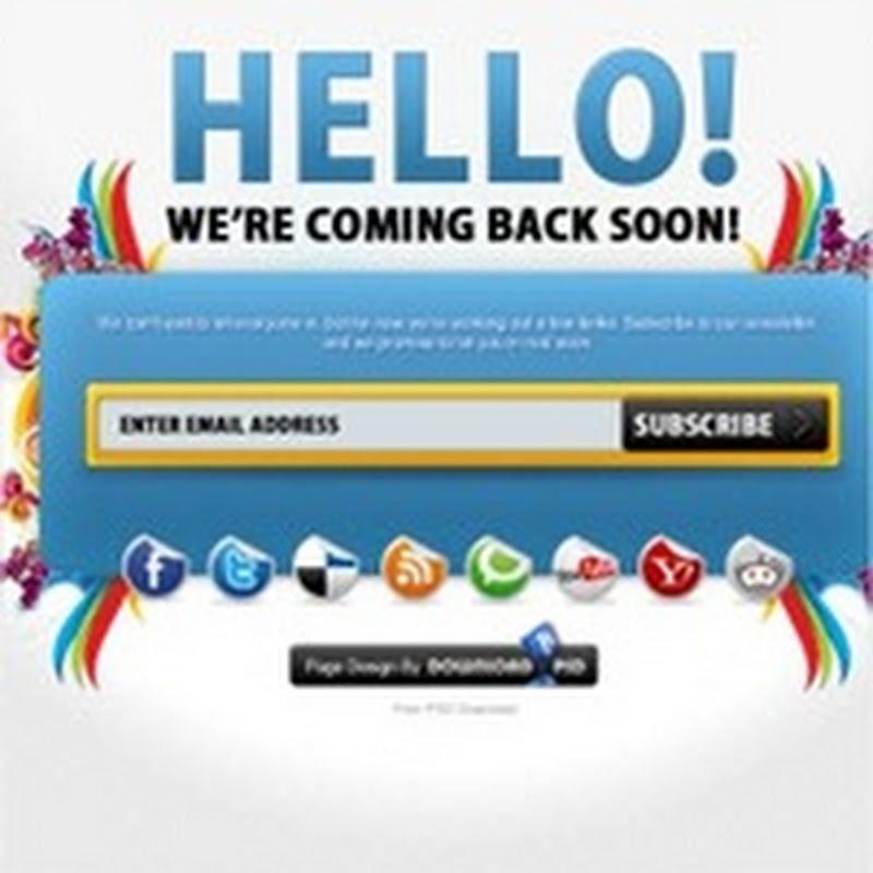 """10 plantillas y tutoriales para crear tu página de """"Coming Soon"""""""