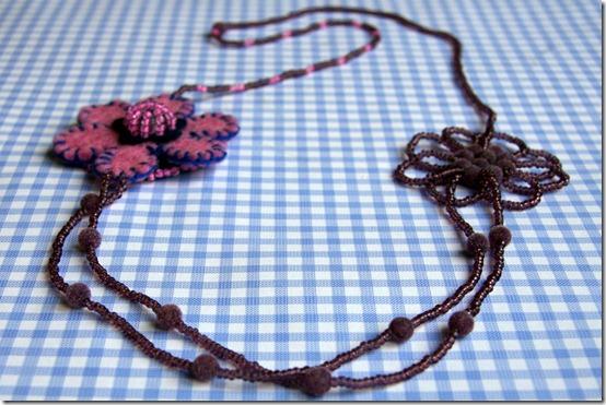 Basco & collana perline e feltro-12