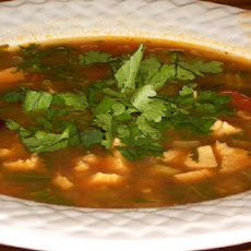Chicken, Black Bean and Cilantro Soup
