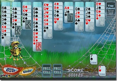 hard mode in Rainy Day Spider Solitaire