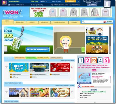 iwon layout