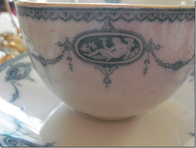 Antique blue teacup 008