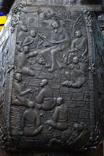Religious Stories Carved on the pillars
