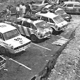 The surviving British Leyland cars at the final service point in Mexico at Oaxaca