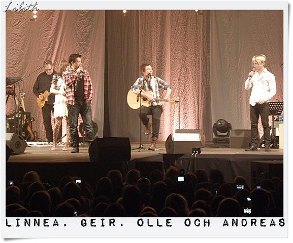 Linnea, Geir, Olle och Andreas