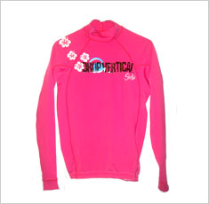 Camisa para surf Drop Vertical Girls rosa