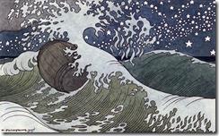 """И.Я. Билибин. """"Бочка по морю плывет…"""", 1905 г. (к """"Сказке о Царе Салтане"""" А.С. Пушкина)"""