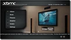Вид экрана с XBMC