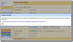 Получение линка на Google-календарь для подписки на него в других программах